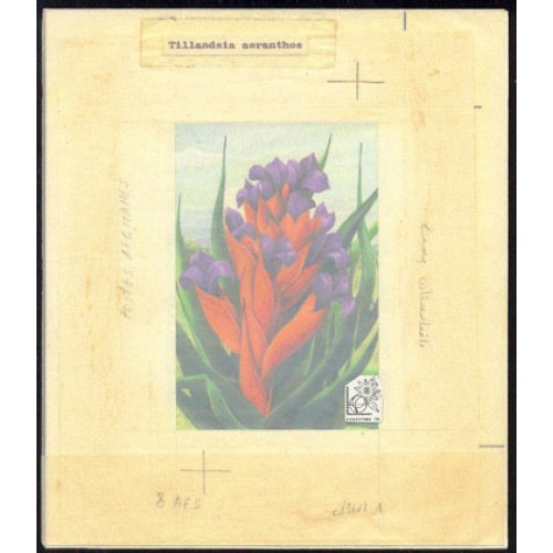 AFGHANISTAN 1985. Flower Stamp Exhibition Argentina 85 issued 8AFS. Stamp Artist´s Work. Motif:159/202mm