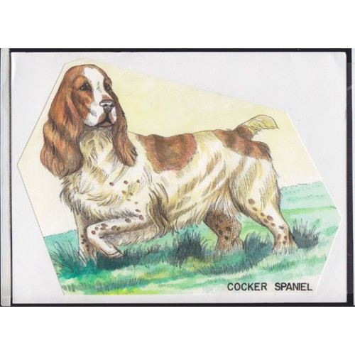 CUBA 1976 Hound dog C Stamp Artist´s Work 279/216mm