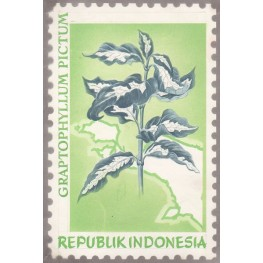 INDONESIA 1968 Flora Plant Flowers A Stamp Artist´s works signed issued 129/118mm