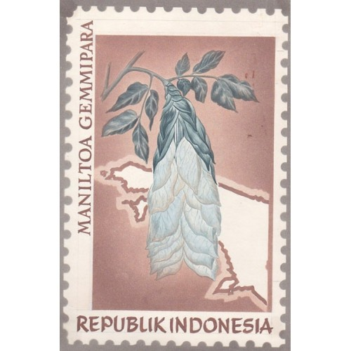 INDONESIA 1968 Flora Plant Flowers B Stamp Artist´s works signed issued 128/2014mm