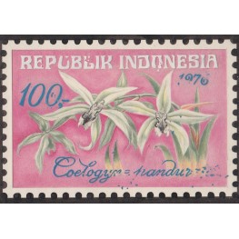 INDONESIA 1976 Flora Flowers Orchid 100.- Artist´s works signed issued 188/128mm