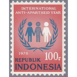 INDONESIA 1978 Racism three guys 100.- Artist´s works signed 121/159mm issued