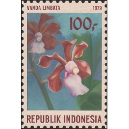 INDONESIA 1979 Violet Orchid 100-. Artist´s works hand signatured 129/188mm