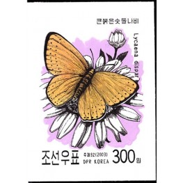 Korea DPR (North) 2003. Little butterfly 300w. Signed Artist Stamps Works. Size: 136/181mm KP Post Archive Mark