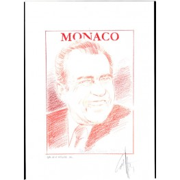 MONACO 2013 President Richard Milhous Nixon B Signatured Stamp Artist´s Original Motif tot:139/201 USA-related