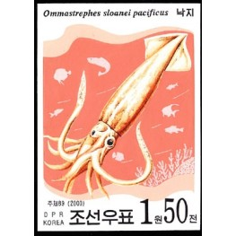 Korea DPR (North) 2000. Crustaceans 1.50w. Signed Artist Stamps Works. Size: 109/149mm  KP Post Archive mark