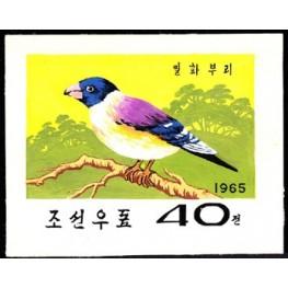 Korea DPR (North) 1965 Bird 40j B Signed Artist Stamps Works. Size: 139/114mm KP POST MARK