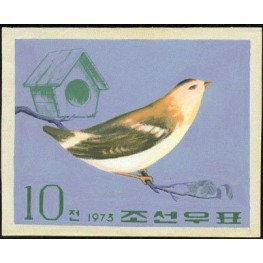 Korea DPR (North) 1973 Bird 10j C Signed Artist Stamps Works. Size: 159/127mm