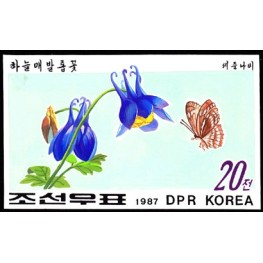 Korea DPR (North) 1987 Orchid Orchidaceae 20W Signed Artist Stamps Works Size: 169/104mm KP Post Archive Mark