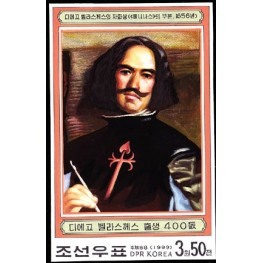 Korea DPR (North) 1999. Painting Impressionist Spain-related 3.50w. Signed Artist Stamps Works. Size: 116/181mm  KP Post Archive mark