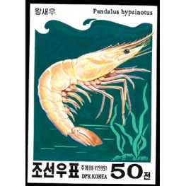 Korea DPR (North) 1999. Crustacean 50w. Signed Artist Stamps Works. Size: 111/149mm  KP Post Archive mark